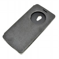 Taff Leather Flip Case Asus Zenfone 5 - Model 2 - Black