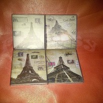 Buku Notes Note Book Memo Miniatur Menara Eiffel Eifel Paris Perancis