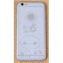 Ultra Thin TPU Case for iPhone 6 Plus - Big Hero Pattern - White