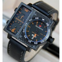 Promo! JAM TANGAN PRIA REDDINGTONE ORI ANTI AIR BLACK ANGKA ORANGE