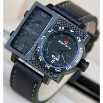 Promo! JAM TANGAN PRIA REDDINGTONE ORI ANTI AIR BLACK ANGKA GREY