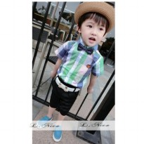 L Nice 43 Blue Green Set (5 - 6 Tahun)
