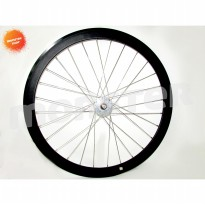 Wheelset H+son SL42 Front Hub Phil 28H Front Black/Silver