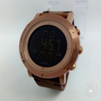Promo! JAM TANGAN PRIA SUUNTO KULIT DIGITAL DARK BROWN