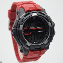 Promo! JAM TANGAN PRIA DIGITEC COLLECTION DD 5007 ORI ANTI AIR RED (RED)
