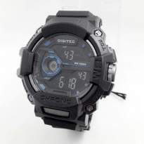 Promo! JAM TANGAN PRIA DIGITEC DIGITAL ORI ANTI AIR BLACK (BLUE)