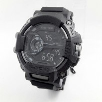 Promo! JAM TANGAN PRIA DIGITEC DIGITAL ORI ANTI AIR BLACK (GREY)