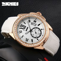 SKMEI Jam Tangan Analog - 1147CL - White/Gold