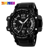 SKMEI Jam Tangan Analog Digital - AD1137 - Black White