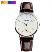 SKMEI Jam Tangan Analog Wanita - 9120CL - Brown/White