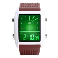 SKMEI Jam Tangan Trendy Digital Analog - 0814G - Coffee