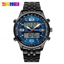 SKMEI Jam Tangan Analog Digital - AD1032 - Black/Blue