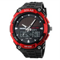 SKMEI Jam Tangan Solar Digital Analog - AD1049E - Red