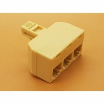 RJ11 Male to 3 RJ11 Female Socket Adapter Converter
