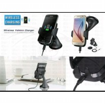 WIRELESS CAR MOUNT CHARGER Qi VEHICLE WIRELESS CHARGING DOCK SAMSUNG