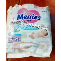 Pampers Merries perekat/Tape NB (24),S (24) Premium