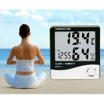 HTC-1 Digital Hygrometer & Temperature Meter LCD with clock