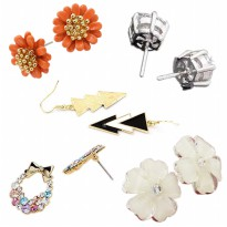 [5 pcs in 1 SET] Super cute Korean earring SET / 1+ 4 / Anting / Perhiasan.