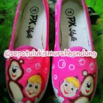 Sepatu Lukis Masha And The Bear