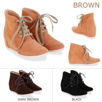 Santuzza Plain Wedges Boots