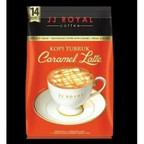 JJ royal coffee kopi tubruk caramel latte 14s coffee with caramel crea