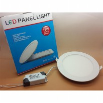 Model BULAT 12w MIYALUX LED Panel Light downlight PUTIH & WARM WHITE