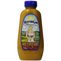 [poledit] Mustard Girl All American Mustards Condiment, Sweet N Spicey Honey, 12 Ounce (T1/13483773