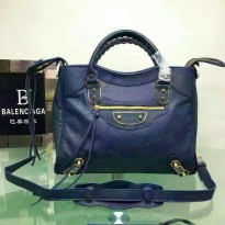 TAS BALENCIAGA EDGE VELO BLUE. LAMBSKIN. ORI LEATHER