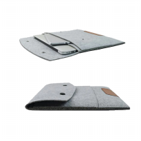 "Sleeve Case Bag for Macbook / Notebook / Tablet (02) 11"" - Grey"