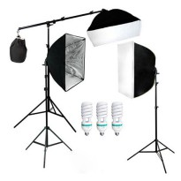 Photography Foto Studio Lightning Kit - Black