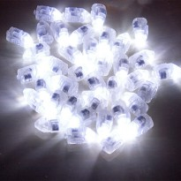 Lampu Balon LED Multifungsi 50PCS - White