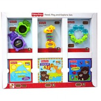Mainan Fisher Price Read, Play and Explore set 6 pcs