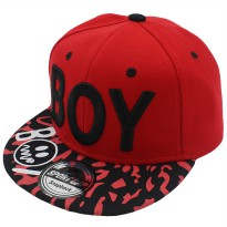 BOY Topi Baseball Anak - Red