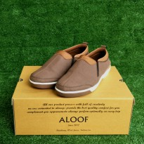 sepatu slip on kulit aloof pozik brown