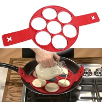 Cetakan Pancake Maker 7 Hole - Red
