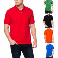 BEST NEW- M - XXL (SMALL- BIG JUMBO) - Kaos berkerah Polos Basic Simple Short Sleeves