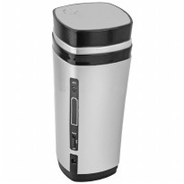 Luxury USB Auto Stirring and Warming Coffee Cup 130ml / Teko Elektrik - Silver