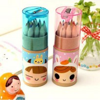 Pensil Warna 12 Color - Pink