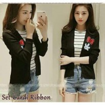 Set Cardi Ribbon HO Cardigan Hitam