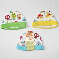Velvet Junior Owl Story Baby Hat Set 3 Pcs