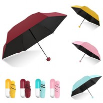 Payung Kapsul Payung Mini lipat 3 Micro Capsule Umbrella anti UV