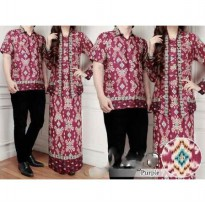 Gamis Couple (Batik Couple, Baju Muslim Couple, Batik Kapel) AK45