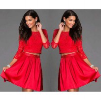 Dress Set Felice YR Warna Merah