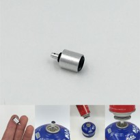 Adapter Refill Tabung Gas Butane - Silver