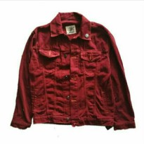 Jaket Denim Valvet UNISEK-Marron