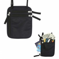 Hidden Travel Pouch Anti RFID - Black