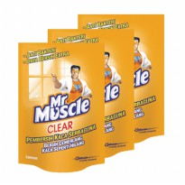 Mr. Muscle Clear Glass Liq. Lemon Pouch 440ml (Bundle 3)