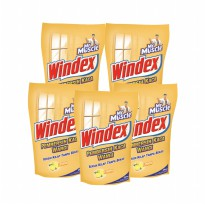 Mr. Muscle Windex Liq. Lemon Pouch 425ml (Bundle 5)