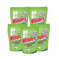 Mr. Muscle Windex Liq. Apple Pouch 425ml (Bundle 5)
