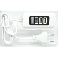 USB Charger Hub 3 Port 5V 2.1A EU plug - White/Black
